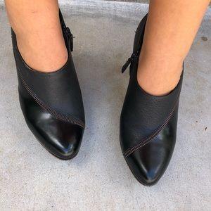 Cole Haan x Nike Air Black zipper bootie heels